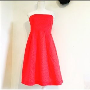 J CREW 100 % cotton DOUBLURE STRAPLESS DRESS